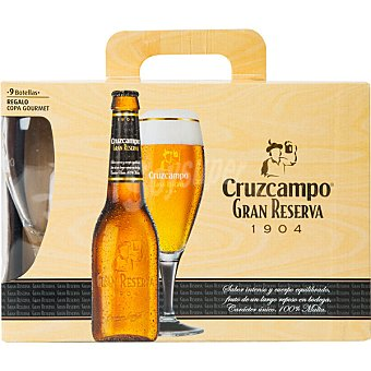 Cruzcampo Gran Reserva 1904 Pack 9 botellas 33 cl Pack 9 botellas 33 cl