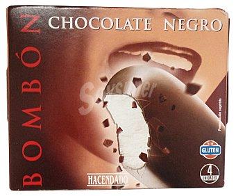 Hacendado Helado palo bombon chocolate negro Caja 4 u