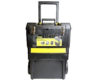 STANLEY Caja de herramientas extraíble con ruedas 2 en 1, con cierres metálicos y medidas de 47,5x28,4x63 centímetros, modelo Rolling Workshop 1 unidad