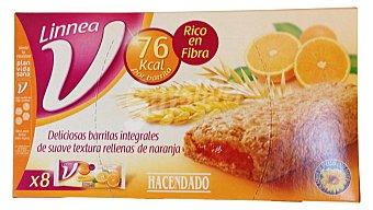 Hacendado Barrita galleta rellena naranja (linnea V) Paquete 8 u