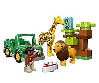 LEGO Juego de construcciones con 18 piezas Sabana, ref. 10802, incluye 1 figura y 2 animales Around the world Duplo 1 unidad