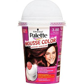 Schwarzkopf Palette Tinte nº 3.88 Rojo Oscuro coloración Mousse Color permanente con brillo intenso envase 1 unidad con perfume afrutado Envase 1 unidad