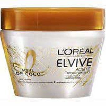 Elvive L'Oréal Paris Mascarilla con aceite de coco pelo normal a seco 300ml 300ml
