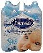 Agua mineral natural Pack 6 botellas x 1,5 l - 9 l Fonteide