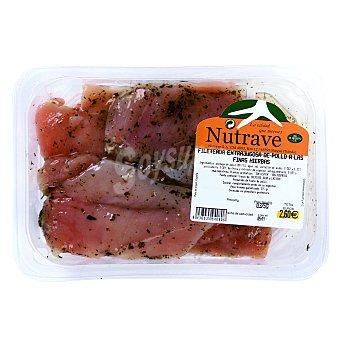 Filetes de pechuga de pollo extrajugosa a las finas hierbas Bandeja 375 gr