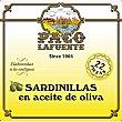 Sardinillas en aceite de oliva 22 piezas Lata 84 g neto escurrido Paco lafuente