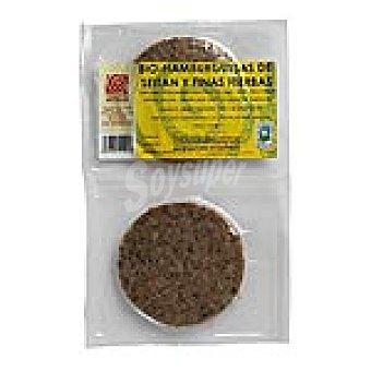 BIOSISEA Hamburguesas de seitán y finas hierbas Paquete 180 g