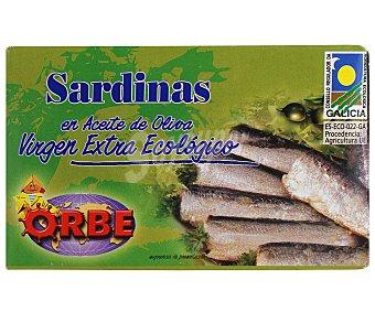 Orbe Sardinas en aceite de oliva virgen extra Ecológico, bajo en sal 87 gr