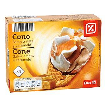 DIA Helado conos nata y caramelo Pack 4 uds