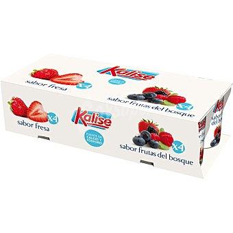Kalise Yogur sabores 4 sabor fresas + 4 sabor frutos bosque pack 8 unds. 125 g Pack 8 unds. 125 g