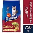 Pienso para gatos adultos delicious ave y verduras Bolsa 750 g Brekkies Affinity