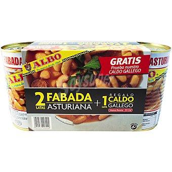 ALBO fabada asturiana lote + regalo 1 lata caldo gallego 2 latas 425 g neto escurrido