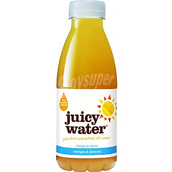 Juicy water Zumo de naranja y limón con agua natural Botella 420 ml
