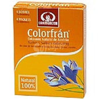 Carmencita Colorante alimentario natural de azafrán  2 gr pack de 4 sobres