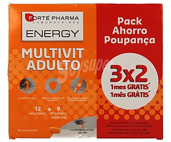 Forte Pharma Multivitamínico para adultos 84 unidades