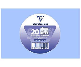 Clairefontaine Sobres de tamaño 90 x 140 milímetros, peso de 120 gramos y de color lavanda 20 unidades
