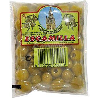Escamilla Aceitunas manzanilla sin hueso bolsa 75 g neto escurrido Bolsa 75 g neto escurrido