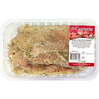 El cuarteron filetes de pechuga pollo al ajillo peso aproximado bandeja 700 g