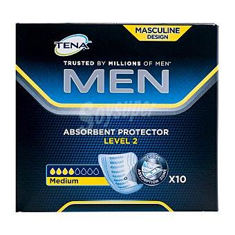 Tena Men Compresa incontinencia masculina nivel 2 Caja 10 u