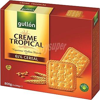 Gullón Galleta crema tropical Caja 800 g