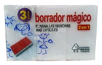Bosque Verde Esponja borrador magico Pack 3 u