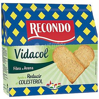 RECONDO VIDACOL pan tostado con fibra de avena paquete 180 g