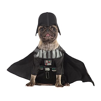 Rubie's Disfraz Rubies para perros Stars Wars Darth Vader Negro S