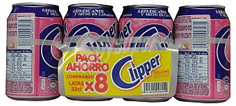 Clipper Fresa con gas Lata pack 8 x 330 cc - 2640 cc