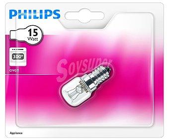 Philips Lámpara tubular para horno 15 Watios, concasquillo E14 (fino) y luz cálida 1 unidad