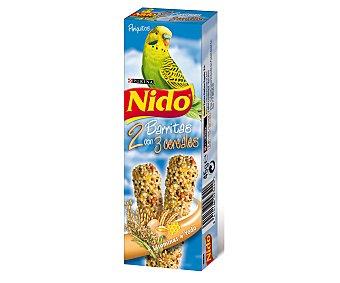 Nido Purina Barritas para Periquitos con 3 Cereales Caja 45 Gramos