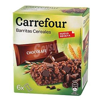 Carrefour Barritas de muesli con chocolate 6x21 g