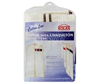 ROLAN Funda para abrigo, con visor transparente para ver el contenido 60X135cm