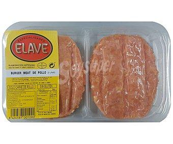 Elave Bandeja de burger meat de carne de pollo, elaboradas sin gluten 2 uds