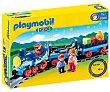 Escenario de juego Tren con vías, incluye 3 figuras, 1.2.3 6880 playmobil  Playmobil 1.2.3