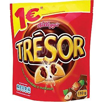 Kellogg's Trésor Cereales de desayuno rellenos de chocolate y avellana Bolsa 110 g