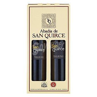 """Abadía de San Quirce Estuche de vino D.O. """"ribera del Duero"""" tinto 6 meses barrica Pack 2x75 cl"""