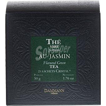 Dammann Té vert Jasmin con perfume de flor de jazmín 25 sobres envase 50 g envase 50 g