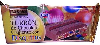Hacendado Turron chocolate crujiente con disquitos *navidad* Pastilla 200 g