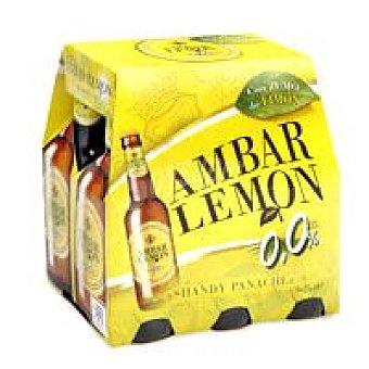 Ambar Cerveza limón 0 Pack 6x25 cl
