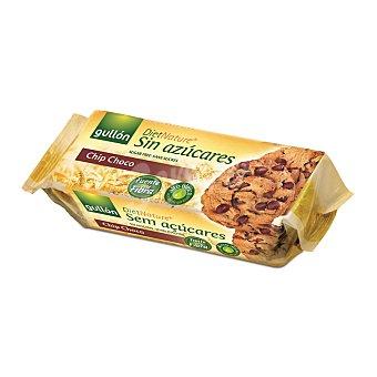 Gullón Galletas con chips de chocolate sin azúcar Paquete 125 g