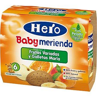 Hero Merienda de frutas con galleta Pack 2x190 g