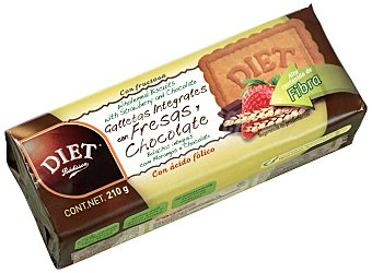 Diet Rádisson Diet Rádisson Galletas Integrales con Fresas y Chocolate 210 gr