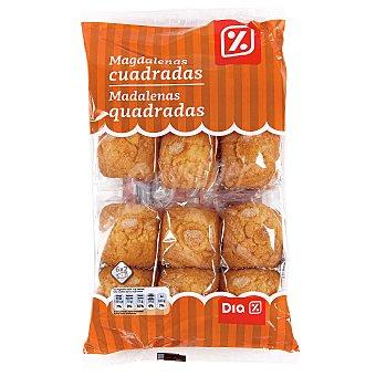 DIA Magdalenas cuadradas envasadas individualmente bolsa 380 gr Bolsa 380 gr