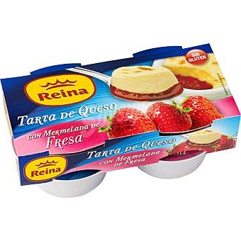 Postres Reina Tarta de queso con mermelada de fresa 2 unidades de 90 g