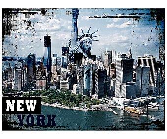 IMAGINE Cuadro de con la imagen de la isla de Manhattan y dimensiones de 60x80 centímetros 1 unidad