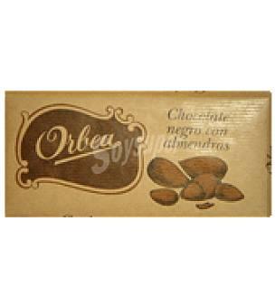 Orbea Chocolate extrafino negro con almendras 125 g