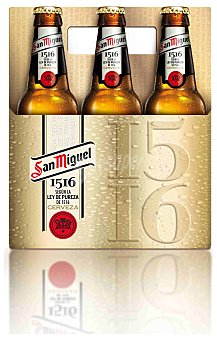 San Miguel Cerveza 1516 Pack 6 botella 250 ml