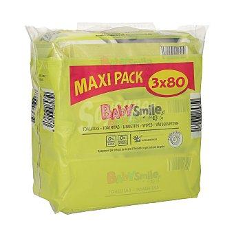 Baby Smile Toallitas para bebés Pack 3x80 uds