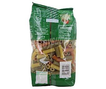 Auchan Macarrones, pasta de sémola de trigo duro de calidad superior a las espinacas y tomate 500 gramos