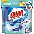 Total Power Gel Caps detergente máquina líqudo fragancia Nenuco para ropa blanca y color ápsulas Envase 32 c Colón